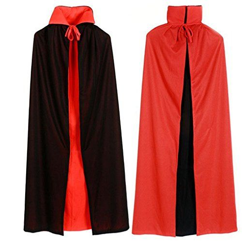 Halloween Cosplay Custome Cloak Medieval Wizard Witch Vampire Devil Robe Cape