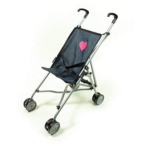 "The New York Doll Collection First Umbrella Dolls Stroller in Denim, one piece - Black - Color for18"" inch for Toddler"