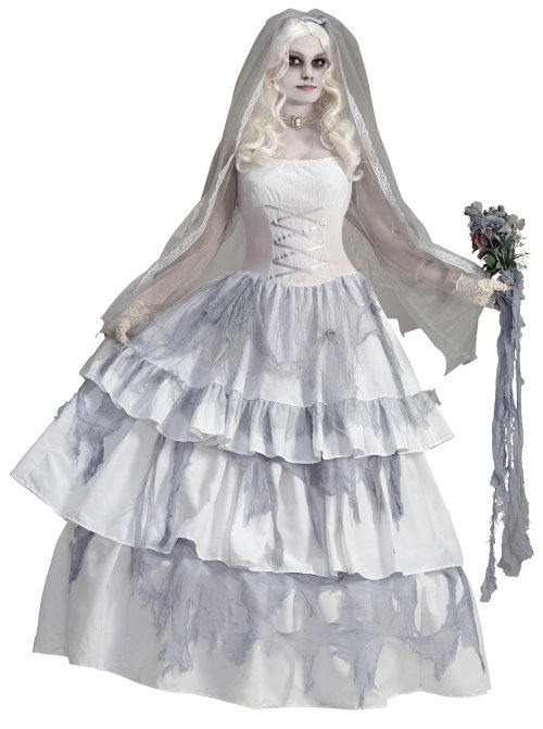 Forum Novelties Women's Deluxe Victorian Ghost Bride Costume - Halloween Costumes for Women