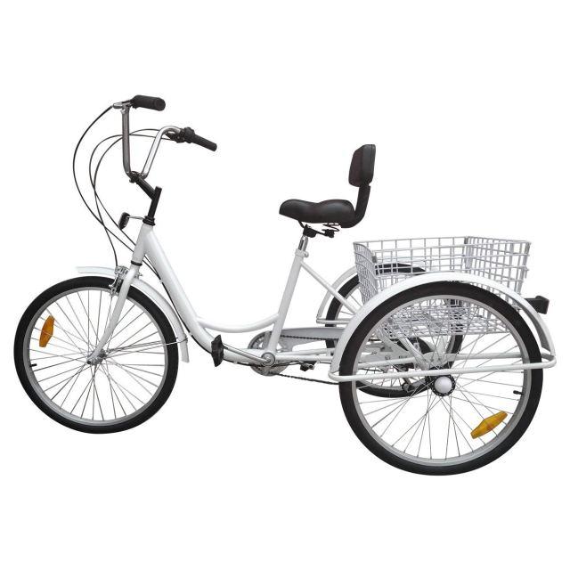 Ridgeyard 6 Speed 24 Inch 3 Wheel Adult Tricycle Bike Cycling