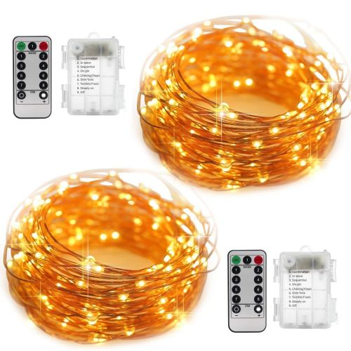 YIHONG 2 to two Set String Lights eight 8 Modes LED Fairy Lights
