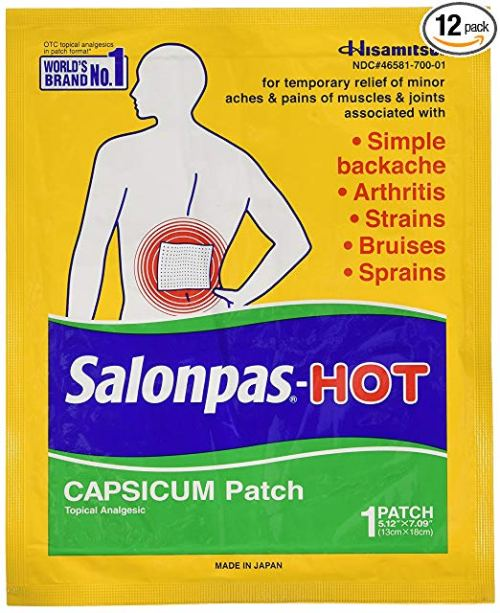 Salonpas-Hot Capsicum Patch 1 Each (Pack of 12)