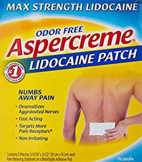 Aspercreme Max Strength Pain Relieving Lidocaine Patch