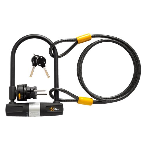 Bike U Lock with Cable - Via Velo Heavy Duty Bicycle U-Lock