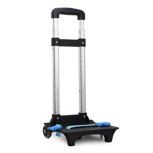 UEK Wheeled Trolley Hand Aluminium Alloy Non-Folding Trolley Cart for Backpack