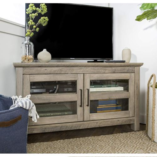 New 44 Inch Corner Television Stand - Grey Wash Color