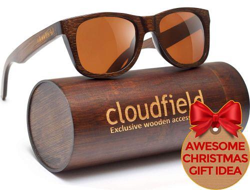 Wood Sunglasses Polarized for Men and Women - Bamboo Wooden Wayfarer Style