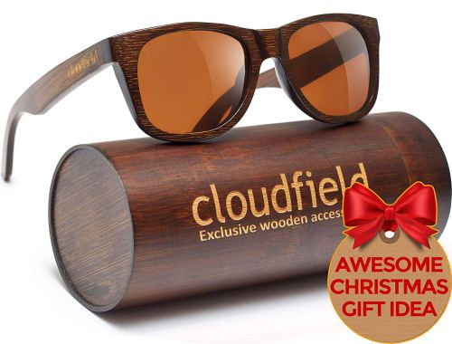 Wood Sunglasses Polarized for Men and Women - Bamboo Wooden Wayfarer Style