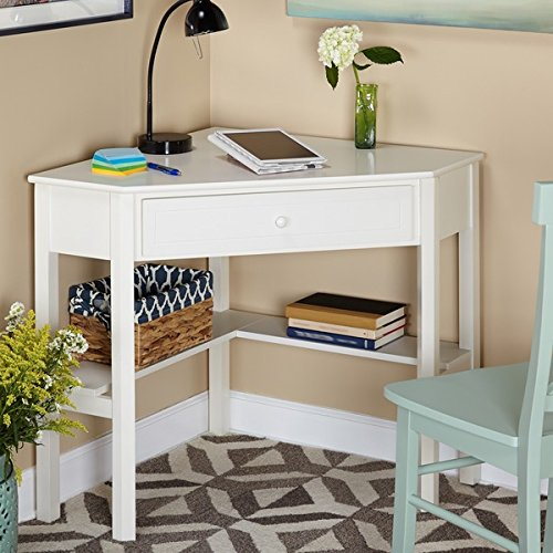 This Classically Styled Desk utilizes a Small Space