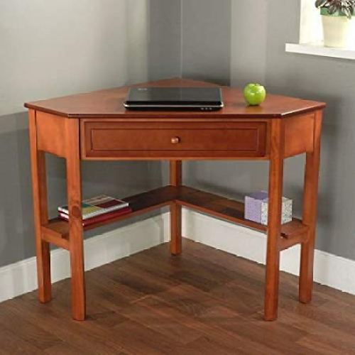 Cherry Wood Corner Computer Desk