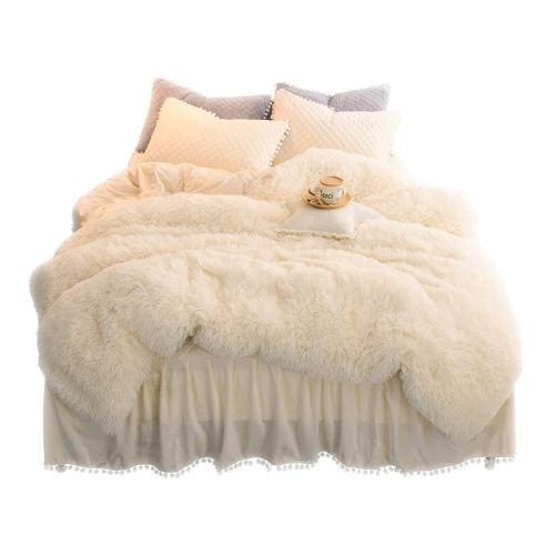 LIFEREVO Luxury Plush Shaggy Duvet Cover Set