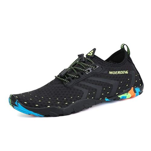 MOERDENG Men Women Water Shoes Quick