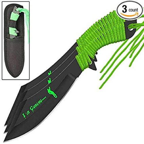 Death Hunter Scimitar Throwing Knife Set