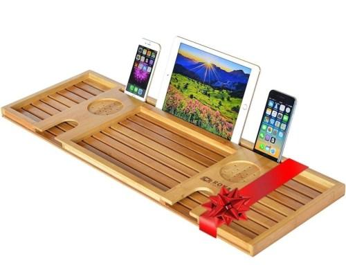 Royal Craft Wood Natural Bamboo Bathtub Caddy