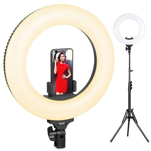 Ring Light, ESDDI 14inch Outer Adjustable Color Temperature