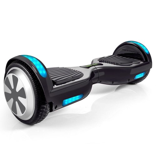 "Hoveroid 6.5"" Electric Self-Balancing Hoverboard Two-Wheel Scooter with Bluetooth Speaker with Side LED Lights UL2272 Certified - Cheap Hoverboards under 250$"