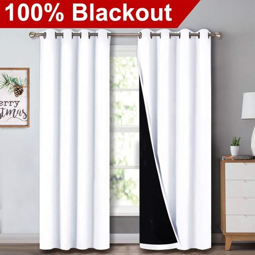 NICETOWN 100% Blackout Window Curtain Panels