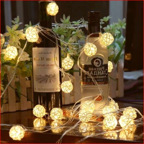 Globe Rattan Ball String Lights