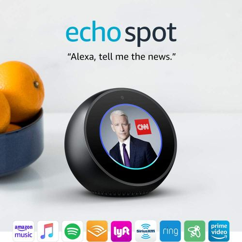 Echo Spot - Smart Alarm Clock with Alexa - Black Amazon Prime Day