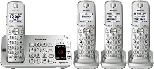 PANASONIC Link2Cell Bluetooth DECT 6.0 KX-TGE474S (Silver)