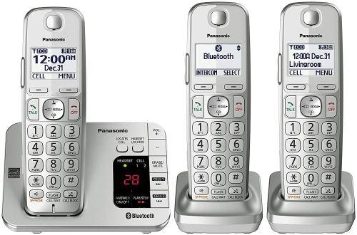 PANASONIC Link2Cell Bluetooth Phone KX-TGE463S - 3 Handsets