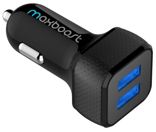 Car Charger, Maxboost 4.8A/24W 2 USB Smart Port Charger [Black] For iPhone X 8 7 6S 6 Plus, 5 SE 5S 5 5C, Galaxy S9 S8 S7 S6 Edge, Note 8 4, LG G6 G5 V10 V20, HTC, Nexus 5X 6P, Pixel, iPad Pro Portable