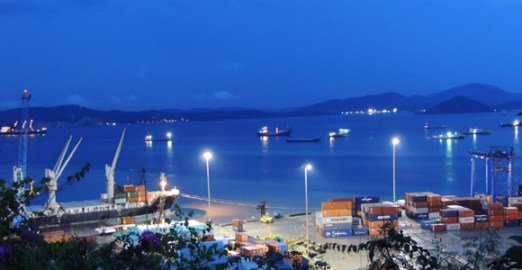 Port Moresby harbour. Credit: INA