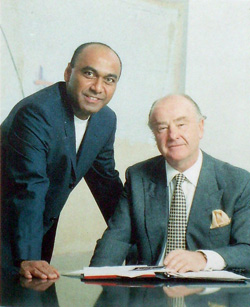 Mahesh Patel (left) with the late Alan Jarvis, former Chairman of CPL Group