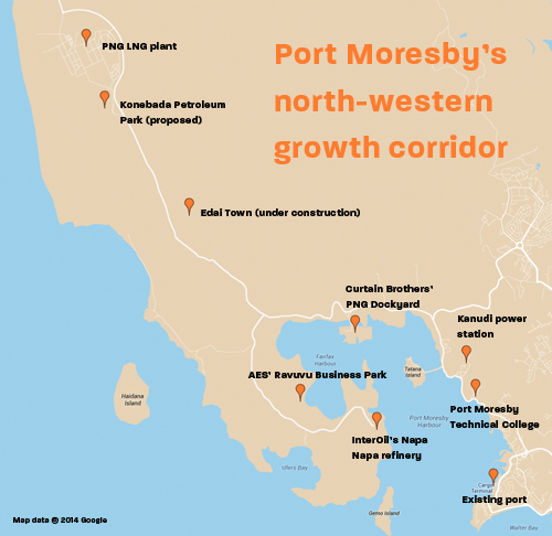 Port Moresby's growth corridor