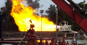 Gas flare at the Antelope gas field in Gulf Province. Courtesy: InterOil