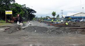 Lae roadworks