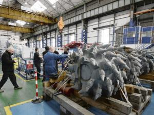 The subsea mining machine being assembled in the UK for Nautilus. Credit: Reuters
