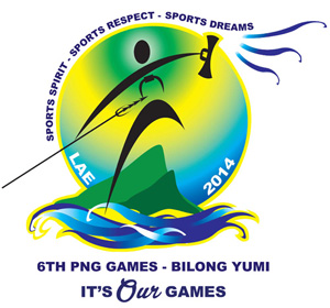 The new logo for the 2014 PNG Games