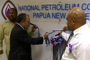 Prime Minister Peter O'Neill officially opens the new NPCP office. Credit: EMTV