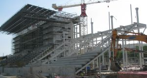 Sir John Guise athletic stadium under construction