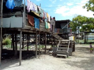 An example of current housing conditions in PNG. Credit: Community Housing.