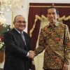 Prime Minister Peter O'Neill with Indonesian President, Joko Widodo
