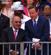 Prime Ministers Peter O'Neill and David Cameron. Credit; BBC