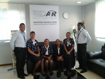 Airlines PNG staff at ATR Singapore. Credit: Airlines PNG