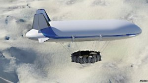 The Dragon Dream airship. Credit: BBC