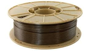 A 3d printer filament made from coffee waste. Credit: 3Dom