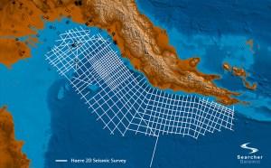 The seismic survey area. credit: Searcher Seismics