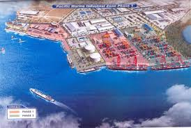 Madang's Industrial Zone plan. Artist's impression.