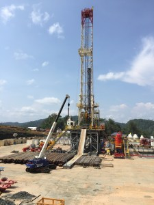 A gas rig at Antelope 6—one of the wells that will feed the Papua LNG project. Source: InterOil