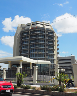 The recently renovated Sir Manasupe Haus (popularly known as the 'Pineapple Building') in Port Moresby is a prominent example of project conducted under PNG's tax credit scheme. The renovation was conducted by Oil Search Ltd. Credit: Business Advantage International