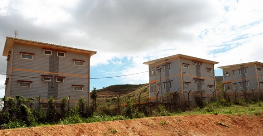 New housing in the outer Port Moresby suburb of Baruni Credit: BAI