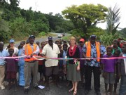Ribbon-cutting ceremony for the new Arawa to Kieta Port Road.