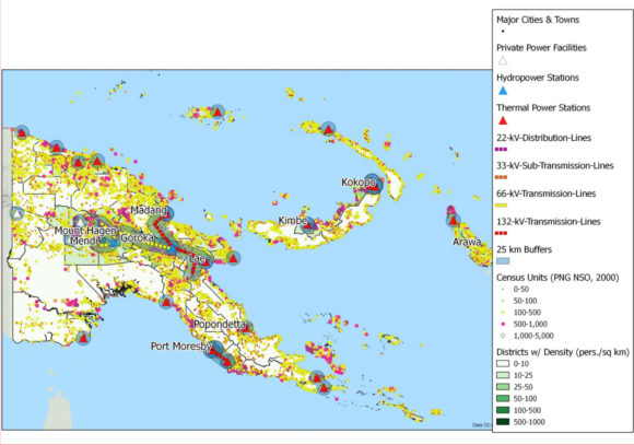 PNG's energy network Source: World Bank