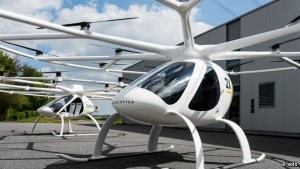 German firm, e-volo's electric Volocopter, which could be certified for flight as soon as next year. Credit: The Economist