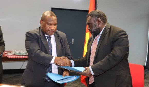 President Toroama and Marape
